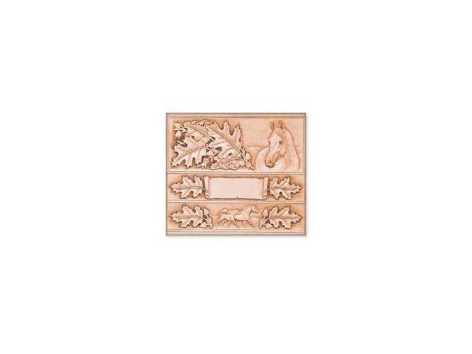 Šablona Listy dubové a kůň - na opasek a peněženku