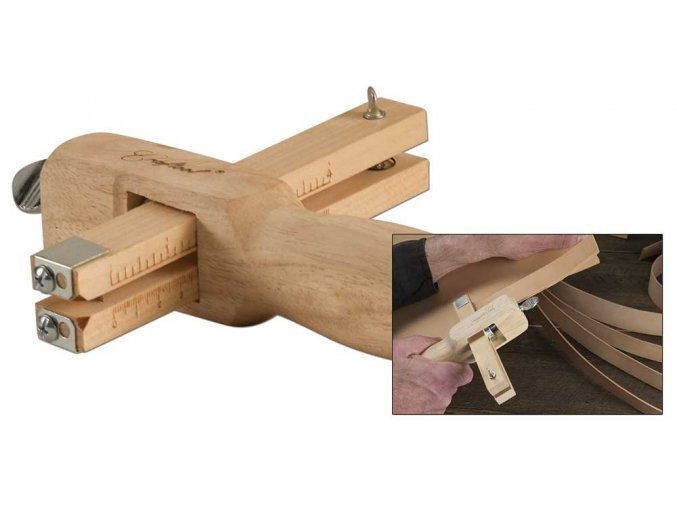 Řezačka řemenů dřevěná