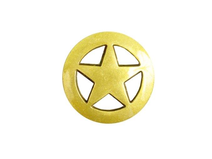 Končo Texas star - Pozlacené