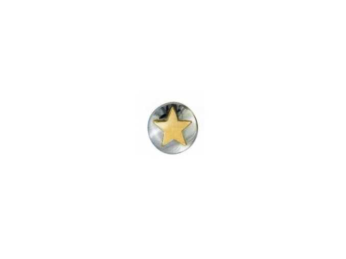 Končo Texas star - Pozlacené, postříbřené