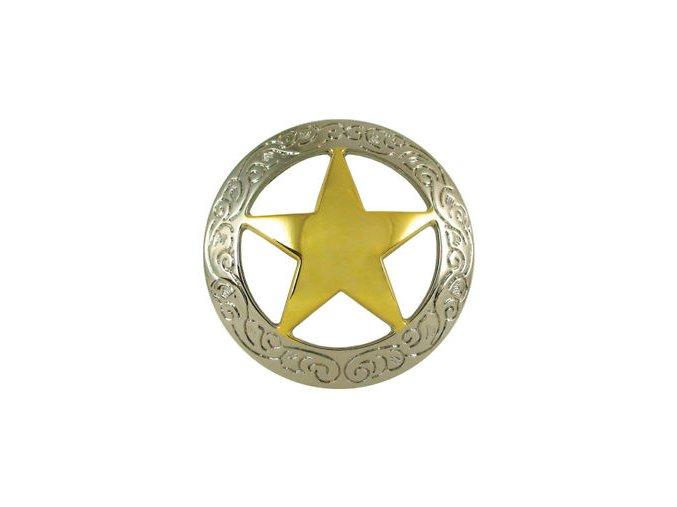 Končo Texas star - Nikl+Pozlacené