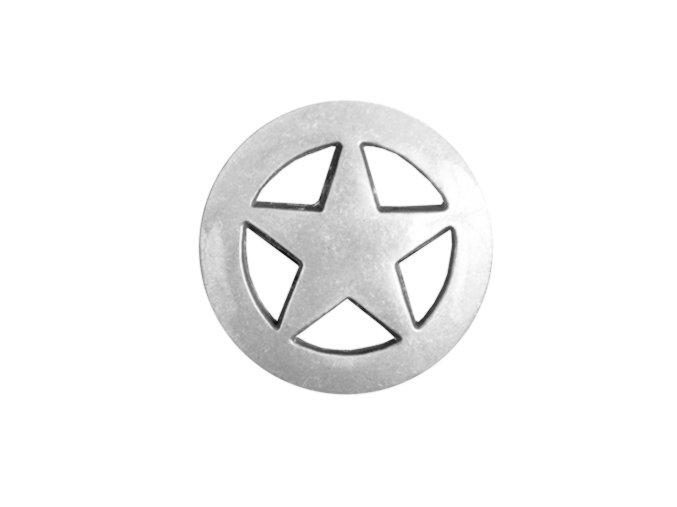 Končo Texas star - Postříbřené s patinou