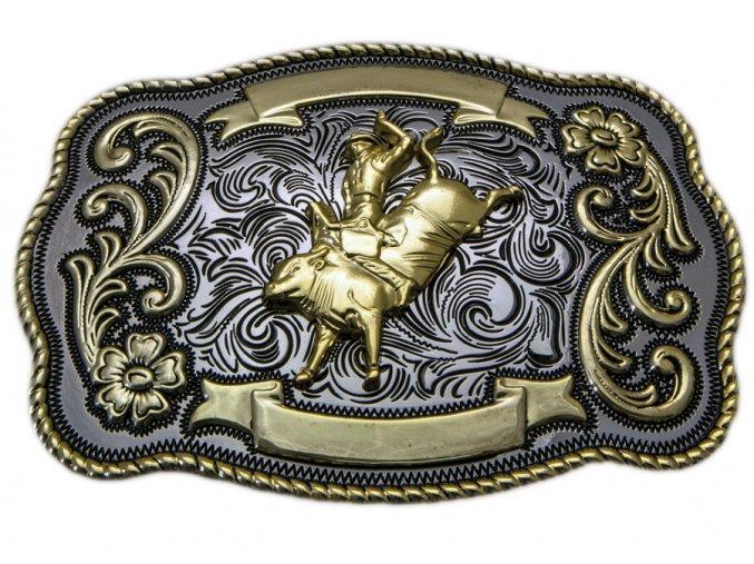 Westernová spona Jezdec na býku