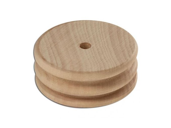 Hladítko za dřeva se dvěmi drážky