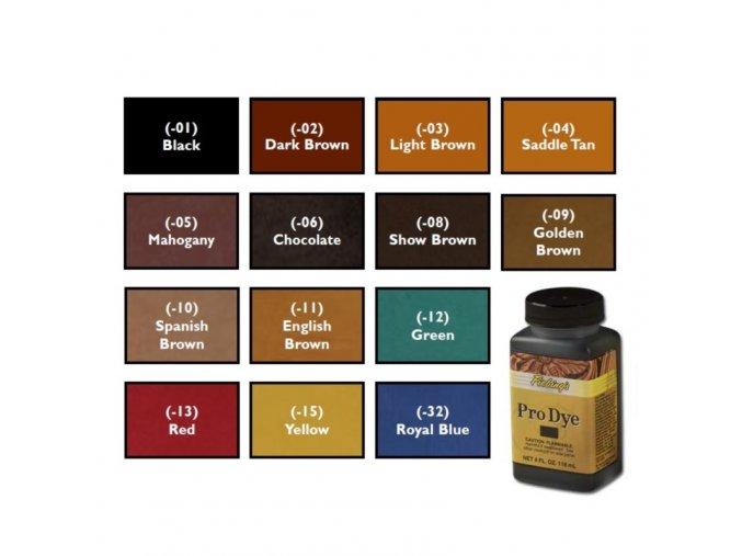 Barva na kůži Fiebing's Leather Pro Dye (Oil dye) 4 fl. oz. (118ml)