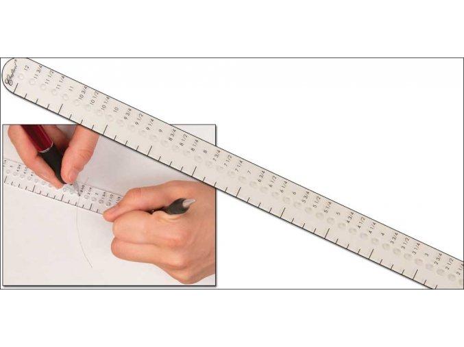 """Akrylová šablona pro značení kruhů 12"""" (306mm)"""