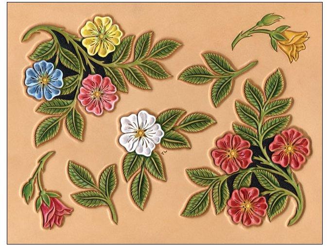 Šablona pouštní růže