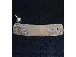 Stříbrné zdobení na zadní rozsochu sedla