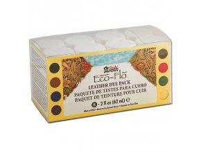 Barvy na kůži Eco-Flo Leather Dye 8x 2,0 fl. oz. (62 ml)